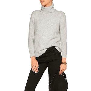 JOIE Lizetta Turtleneck Sweater Heather Light Gray